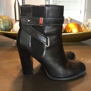 ALDO Black Leather Booties